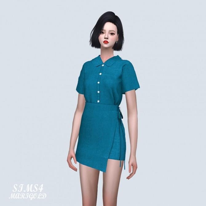 Sims 4 Shirts Wrap Mini Dress (P) at Marigold