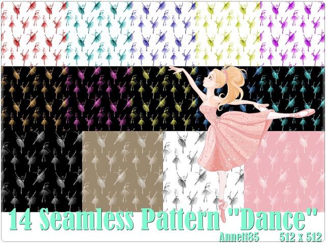 Sims 4 14 Seamless Pattern Dance at Annett's Sims 4 Welt