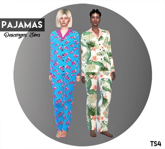 Pajamas at Descargas Sims image 1665 Sims 4 Updates