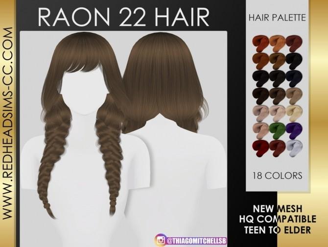 Sims 4 Raon 22 hair at REDHEADSIMS