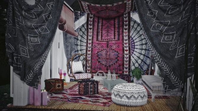 33 | BOHEMIAN RASPBERRY house at SoulSisterSims image 1684 670x377 Sims 4 Updates