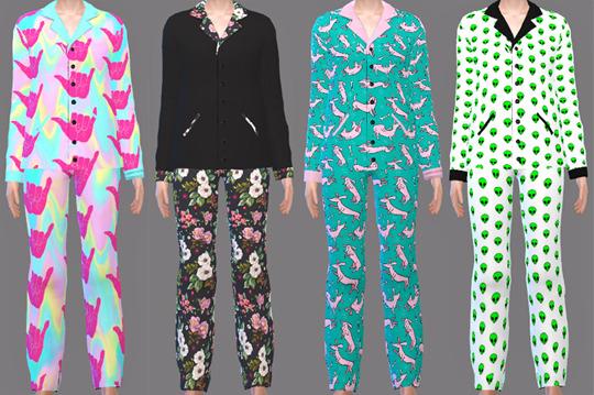 Pajamas at Descargas Sims image 1685 Sims 4 Updates