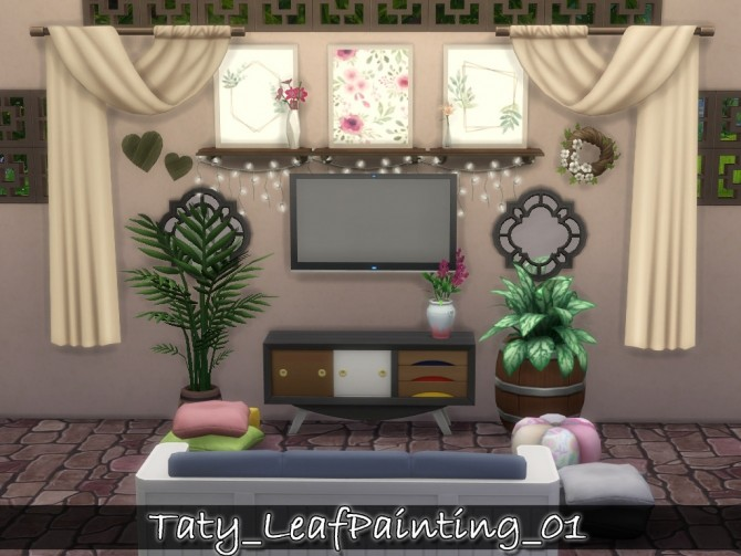 Sims 4 Leaf paintings 01 at Taty – Eámanë Palantír