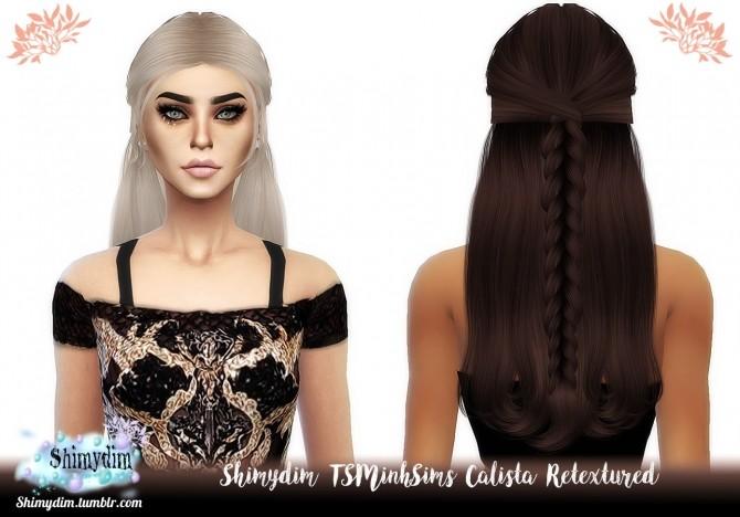 Sims 4 TSMinhSims Calista Hair Retexture Naturals + Unnaturals at Shimydim Sims