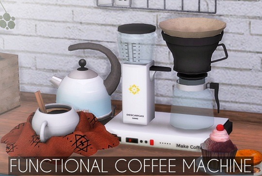 Sims 4 Functional Coffee Machine at Descargas Sims