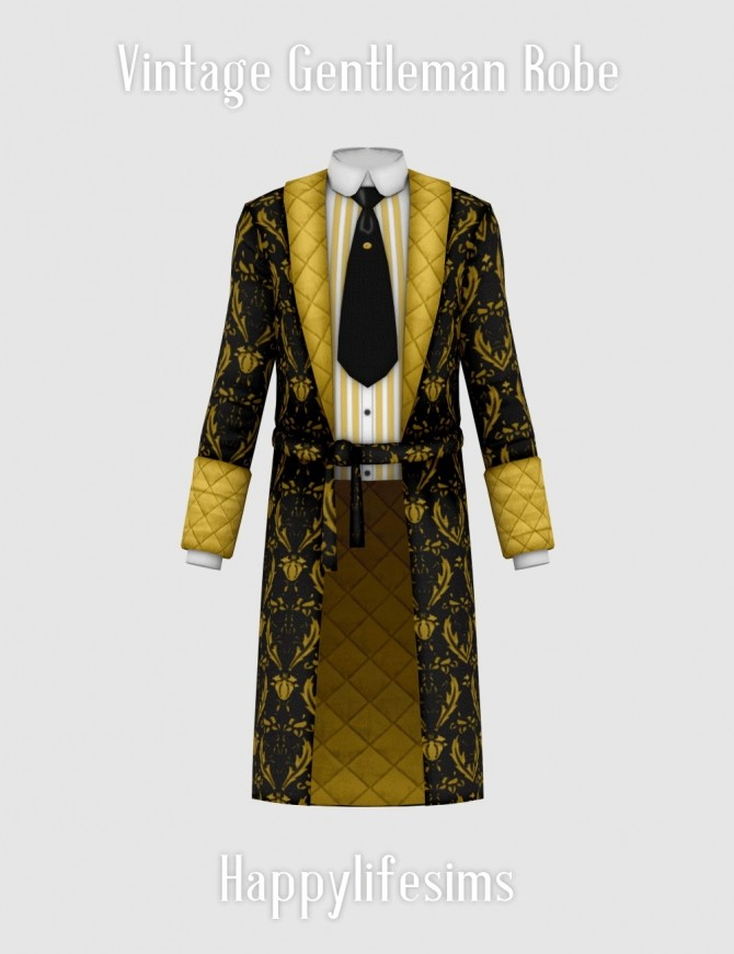 Vintage Gentleman Robe at Happy Life Sims image 173 p1 670x871 Sims 4 Updates