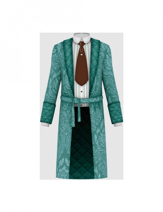 Vintage Gentleman Robe at Happy Life Sims image 173 p4 670x871 Sims 4 Updates