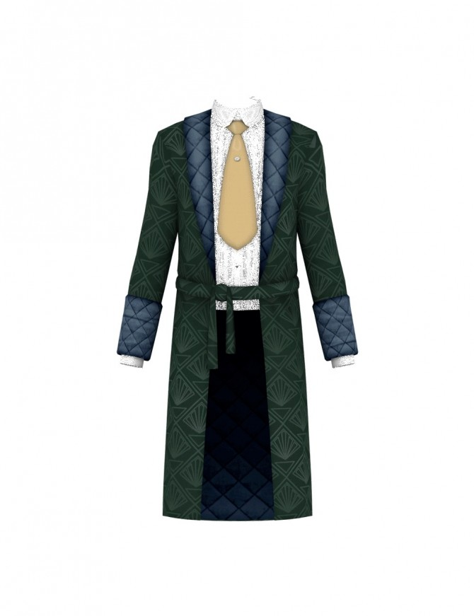 Vintage Gentleman Robe at Happy Life Sims image 173 p7 670x871 Sims 4 Updates
