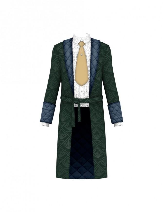 Sims 4 Vintage Gentleman Robe at Happy Life Sims