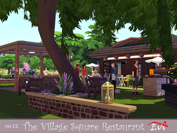 The Village Square Restaurant by evi at TSR image 1740 Sims 4 Updates