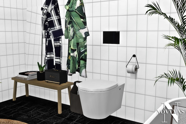 Sims 4 MXIMS NOVVVAS BOO BATHROOM SET COLLABORATION at Novvvas