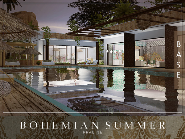 Sims 4 Bohemian Summer house by Pralinesims at TSR