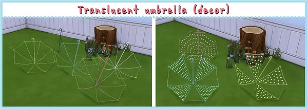 Translucent Umbrella (ACC / Decor) at A luckyday image 18310 Sims 4 Updates
