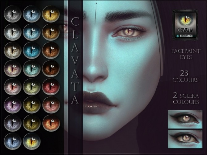 Sims 4 Clavata Eyes by RemusSirion at TSR