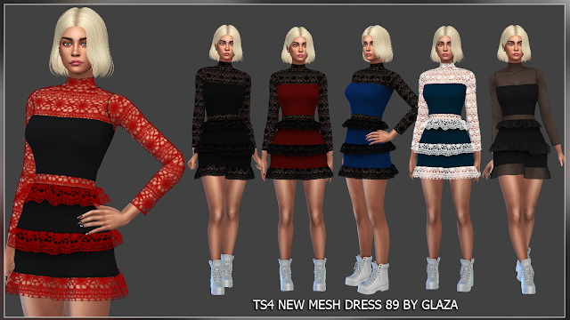 Sims 4 Dress 89 (P) at All by Glaza