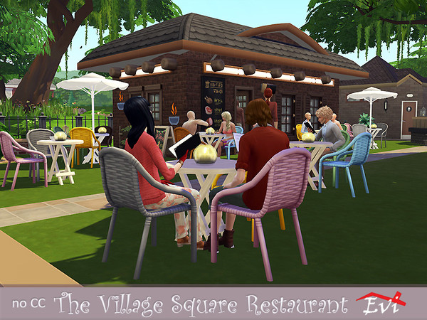 The Village Square Restaurant by evi at TSR image 1848 Sims 4 Updates