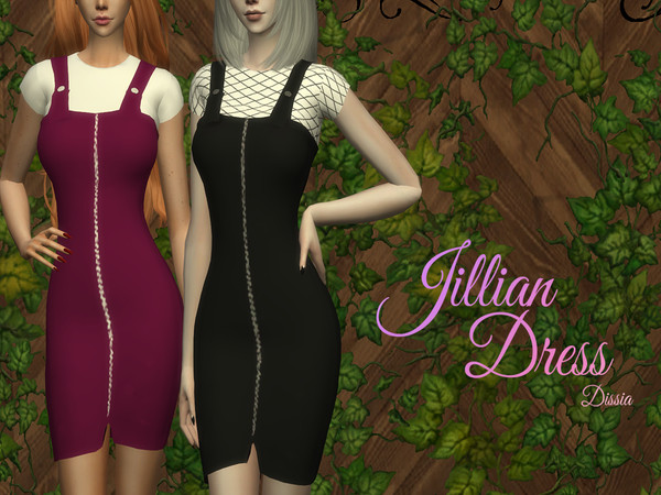Sims 4 Jillian Dress by Dissia at TSR