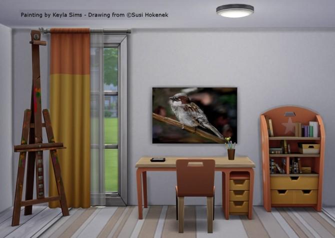 Susi Hokenek paintings at Keyla Sims image 19111 670x477 Sims 4 Updates