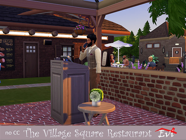 The Village Square Restaurant by evi at TSR image 1940 Sims 4 Updates