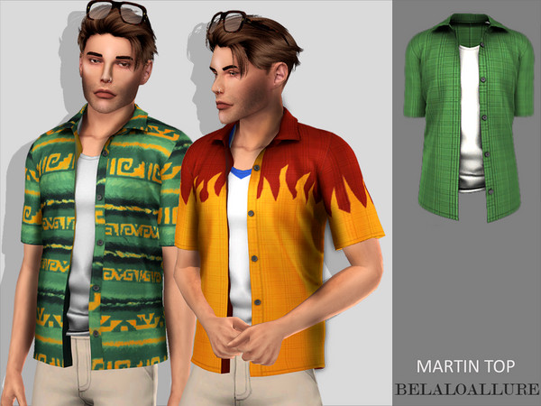 Belaloallure Martin top by belal1997 at TSR image 1946 Sims 4 Updates