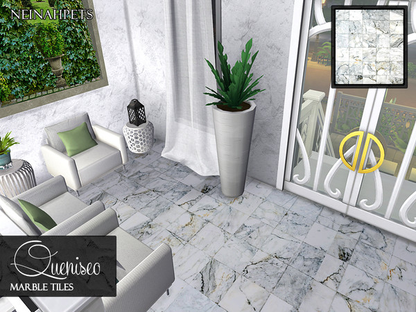 Sims 4 Queniseo Marble Tile Flooring by neinahpets at TSR