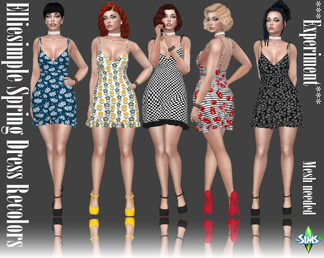 Sims 4 Elliesimple Spring Dress Recolors at Annett's Sims 4 Welt