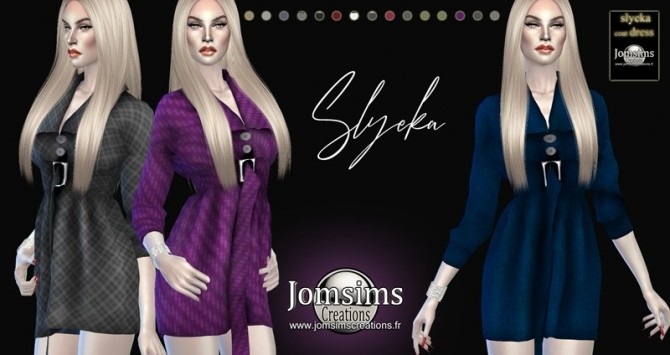 Slyeka coat dress at Jomsims Creations image 2005 670x355 Sims 4 Updates