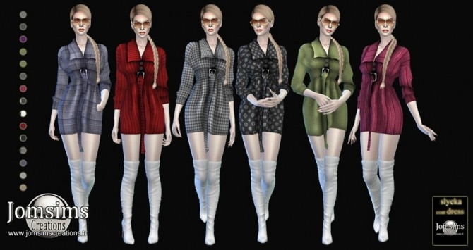 Slyeka coat dress at Jomsims Creations image 20111 670x355 Sims 4 Updates