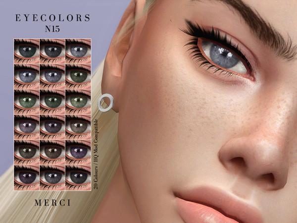 Sims 4 Eyecolors N15 by Merci at TSR