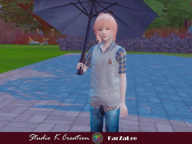 Giruto58 Knitted Vest Shirt for kids at Studio K Creation image 2019 670x502 Sims 4 Updates