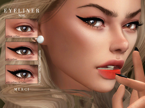 Sims 4 Eyeliner N06 by Merci at TSR