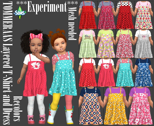 TOMMERAAS Layered T Shirt and Dress Recolors at Annett's Sims 4 Welt image 2054 Sims 4 Updates