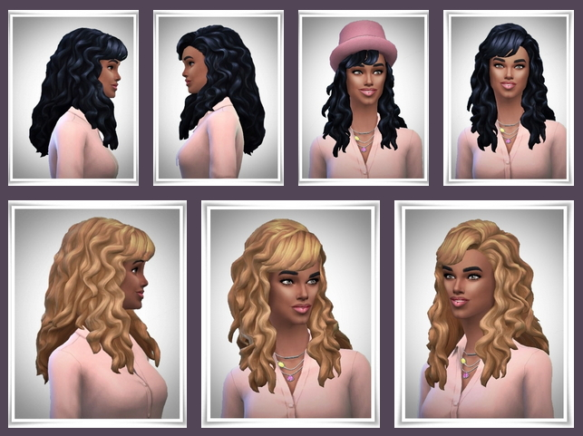 Sims 4 Arielle's Curls with Bangs at Birksches Sims Blog