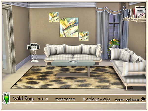Sims 4 Wild Rugs by marcorse at TSR