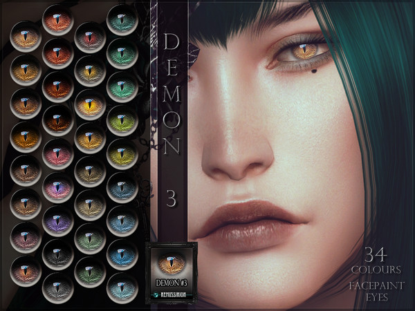 Sims 4 Demon Eyes 03 by RemusSirion at TSR