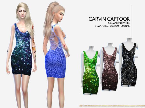 Sims 4 Valentivitel dress by carvin captoor at TSR