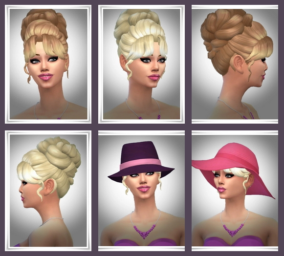 Sims 4 PlayFul Hair Bun at Birksches Sims Blog