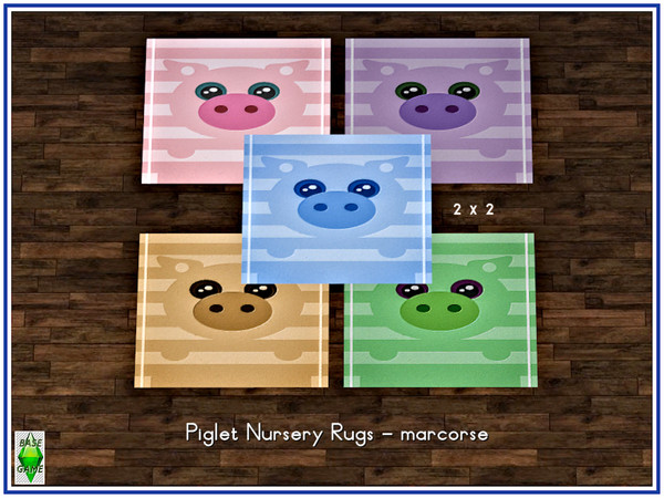 Sims 4 Piglet Nursery Rugs by marcorse at TSR