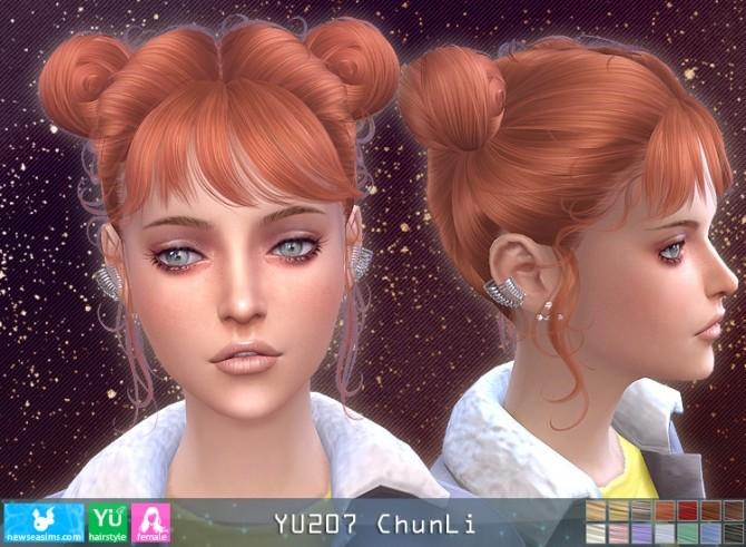 Sims 4 YU207 Chun Li hair at Newsea Sims 4