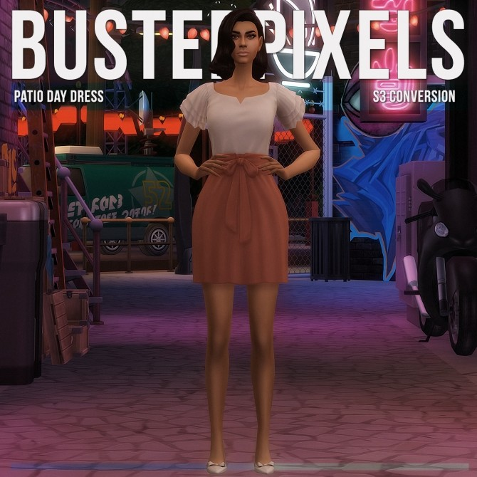 Sims 4 Outdoor Living Patio Day Dress S3 Conversion at Busted Pixels