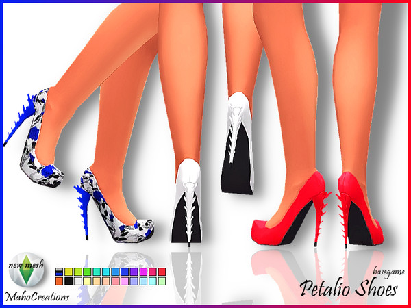 Sims 4 Petalio Shoes by MahoCreations at TSR