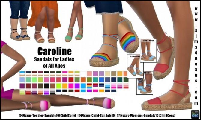 Caroline sandals by SamanthaGump at Sims 4 Nexus image 2153 670x402 Sims 4 Updates