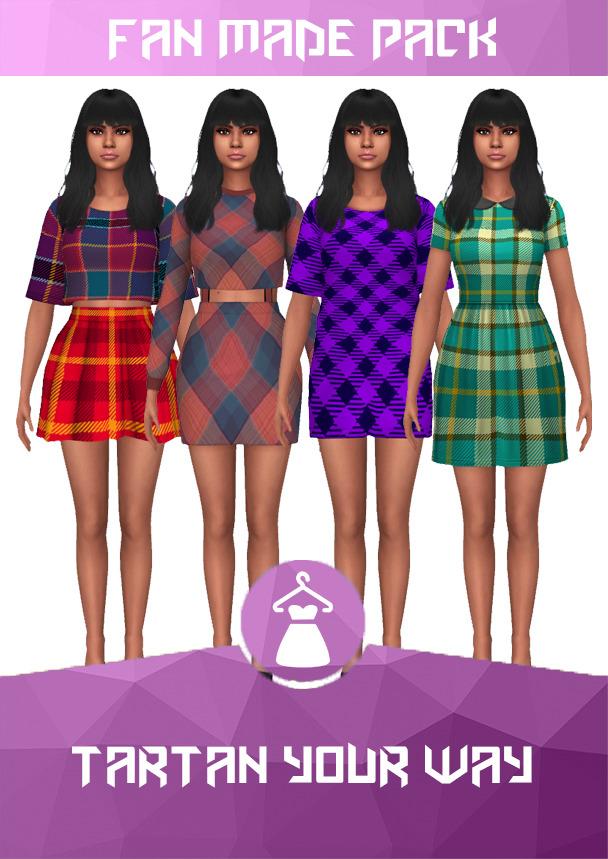 Sims 4 Tartan your way set at Heartfall