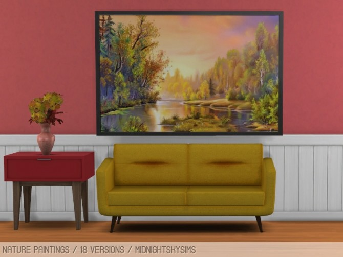 Nature paintings at Midnightskysims image 2201 670x503 Sims 4 Updates
