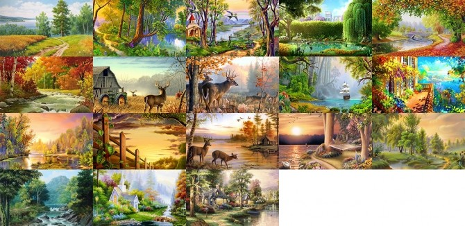Nature paintings at Midnightskysims image 2211 670x326 Sims 4 Updates