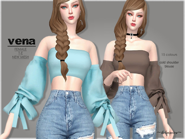 Vena Blouse By Helsoseira At Tsr 187 Sims 4 Updates