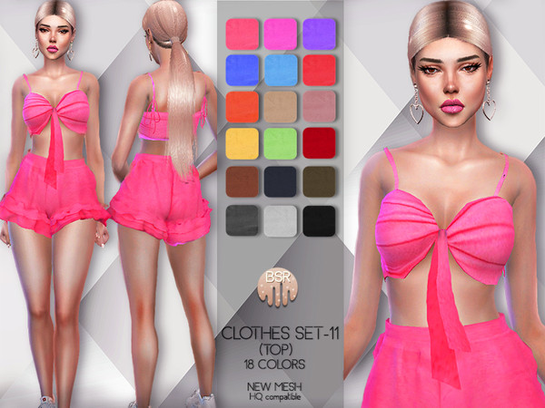 Sims 4 Clothes SET 11 TOP BD55 by busra tr at TSR