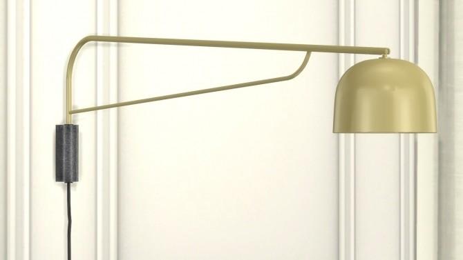 Sims 4 GRANT WALL LAMP at Meinkatz Creations