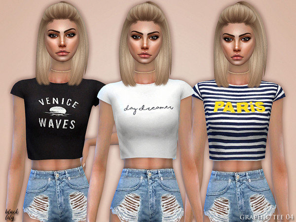 Sims 4 Graphic Tee 04 by Black Lily at TSR