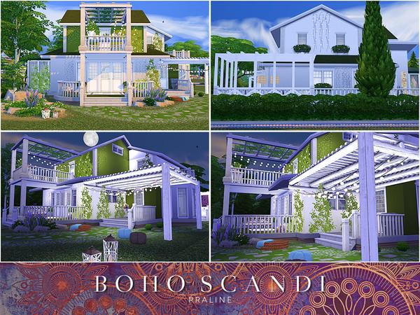 Boho Scandi house by Pralinesims at TSR image 2414 Sims 4 Updates
